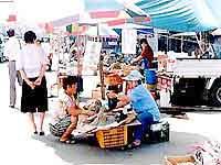 吉祥面の中心地の市場の写真