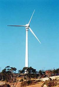風力発電所の写真